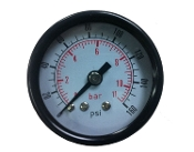 "Pressure Gauge 1 1/2"" Dia.Center Back Mount 1/4"" npt   0-160 PSI"
